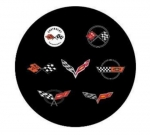 E22884 CORVETTE RUBBER COASTERS-SET OF 4-53-19