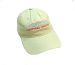E23040 HAT-EC PRODUCTS-TAN-WHITE-RED-UNISEX-ADJUSTABLE BUCKLE