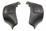 E23060 BUTTON-HORN-BLACK-PAIR-92-93