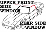 E2321 WEATHERSTRIP KIT-CONVERTIBLE HARDTOP-USA-5 PIECE-86-96
