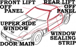 E2326 WEATHERSTRIP KIT-COUPE BODY-USA-9 PIECE-90-96