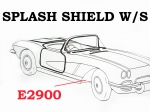 E2900 WEATHERSTRIP-SPLASH SHIELD-PAIR-53-62