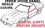 E3318L SEAL-INNER DOOR PANEL-LEFT-84-89