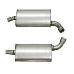 E3684OR MUFFLER-ALUMINIZED-OFF ROAD-2.5 INCH-3 CHAMBER-PAIR-63-67