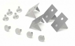 E4071 RETAINER SET-UNDERBODY TUNNEL INSULATOR-WITH RIVETS-12 PIECES-63-75