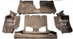 E4416 CARPET SET-REAR-CONVERTIBLE-CUT PILE-MASS BACK-90-93