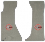 E4513R MAT SET-FLOOR-LLOYD'S ULTIMATS-EMBROIDERED APPLIQUE RED C4 LOGO-COLORS-PAIR-95-96