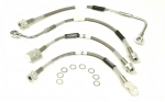 E6319 HOSE SET-BRAKE-BRAIDED STAINLESS STEEL-4 PIECES-USA-94-96