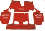 E668078 CARPET SET-REAR-CONVERTIBLE-CUT PILE-POLY BACK-RUBY RED-93
