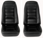 E6972 COVER-SEAT-LEATHERETTE-EXCEPT 78 PACE CAR-4 PIECE-76-78