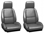 E7063 COVER-SEAT-LEATHER LIKE-MOUNTED ON FOAM-STANDARD-WITH PERFORATIONS-84-88