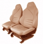 E7105 COVER-SEAT-LEATHER LIKE-SPORT-MOUNTED ON FOAM-94-96