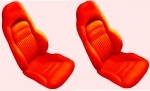 E7152 COVER-SEAT-100% LEATHER-SPORT-6 PIECES-97-04