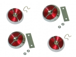 E7230 KNOB-DOOR LOCK AND REFLECTOR-4 PIECE SET-USA-63-64