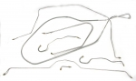 E8690 BRAKE LINE SET-STAINLESS STEEL-POWER BRAKES-1/4 INCH-65-66