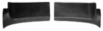 EC144UP PANEL-REAR ROOF INNER-UNPAINTED BLACK GRAINED PLASTIC-COUPE-USA-PAIR-73-E76