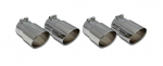 EC200 EXHAUST TIPS-STAINLESS STEEL-ROUND ANGLE CUT-SET OF 4-85-91