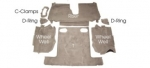 EC970 CARPET SET-REAR-COUPE-CUT PILE-MASS BACK-84-87