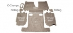EC971 CARPET SET-REAR-COUPE-CUT PILE-POLY BACK-84-87