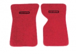 EC975LC MAT SET-FLOOR-80-20 LOOP-WITH EMBROIDERED CORVETTE LOGO-COLORS-PAIR-70-75