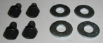 E11587 BOLT AND WASHER SET-SPARE TIRE CARRIER COVER-4 PIECES-63-67