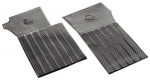 E1773 MAT SET-FLOOR-BLACK RUBBER-BOWTIE LOGO-RIBBED BACKING-PAIR-63-67