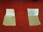 E21409 MAT SET-FLOOR-DIAMOND PLATE-POLISHED ALUMINUM-PAIR-68-82