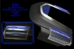 E21710 Side Inserts-Engine Shroud-Perforated-Stainless Steel-W/ Blue LED-ZR1-Pair-09-13