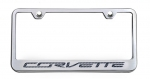 E21820 Frame-License Plate-C7 Corvette Lettering-Carbon Fiber Inlay-7 Colors Available