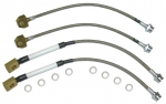 E2934 HOSE SET-BRAKE-BRAIDED STAINLESS STEEL-4 PIECES-USA-84-87