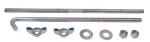 E3284 BOLT KIT-BATTERY HOLD DOWN-WITH OUT AIR CONDITIONING-WITH WING NUTS-63-66