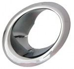 E3297 BEZEL-EXHAUST-CHROME-LEFT-66-67