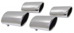 E6681 EXHAUST TIPS-POLISHED STAINLESS STEEL-OVAL-SET OF 4-97-00