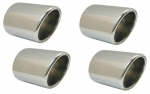E6682 EXHAUST TIPS-POLISHED STAINLESS STEEL-ROUND-SET OF 4-97-00