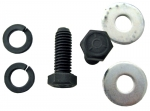 E9825 BOLT SET-TRANSMISSION MOUNT TO BRACKET-WITH WASHERS AND SPACERS-6 PIECES-63-67