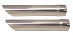 EC182 EXHAUST TIPS-POLISHED STAINLESS STEEL-PAIR-63-67
