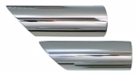 EC186 EXHAUST TIPS-ANGLED END-CHROME-74-82