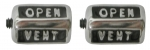 EC197 KNOB-VENT-NON AIR CONDITIONING-USA-PAIR-68L