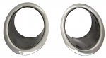 EC575 BEZEL-EXHAUST-STAINLESS STEEL-PAIR-64-65